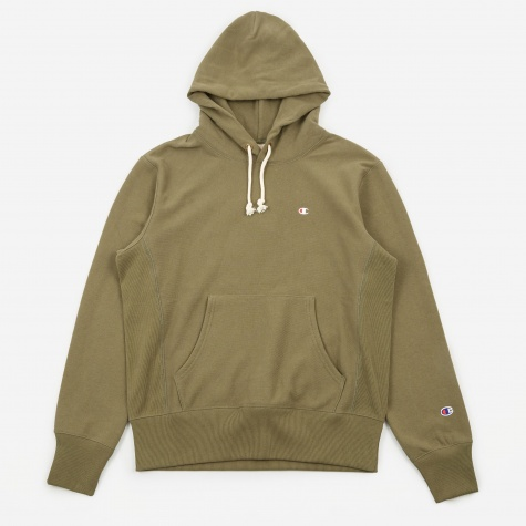 Classic Reverse Weave Hooded Sweatshirt - Forest