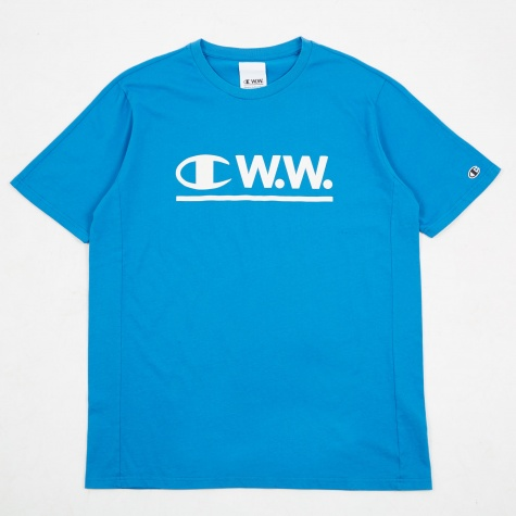 x Wood Wood Athletic Jersey T-Shirt - Blue