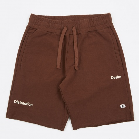 x Wood Wood Reverse Weave Track Short - Burgundy