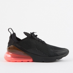 Nike Air Max 270 Shoe - Black/Black-Hot Punch