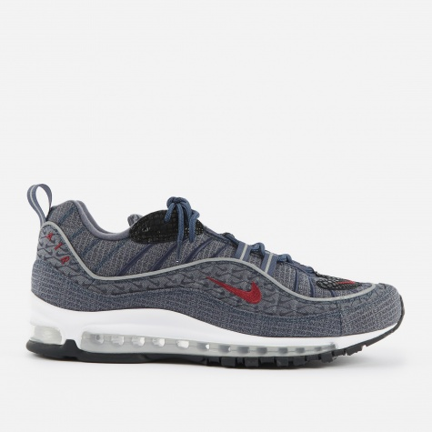 Air Max 98 QS - Thunder Blue/Team Red-Diffused Blue