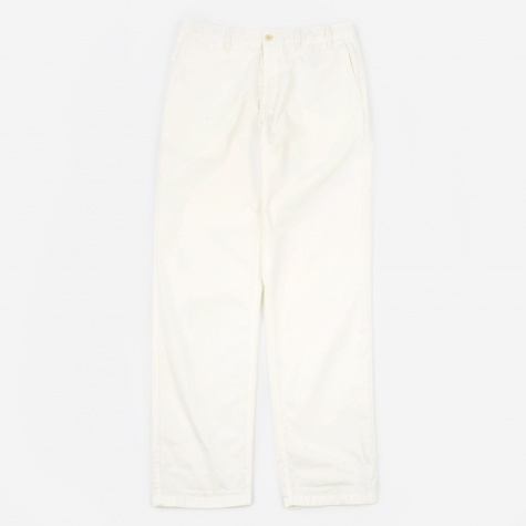 Aros Light Twill Trouser - Kit White