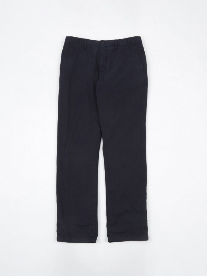Norse Projects Aros Light Twill Trouser - Dark Navy (Image 1)
