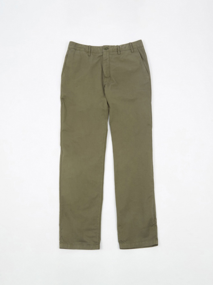 Norse Projects Aros Light Twill Trouser - Dried Olive (Image 1)