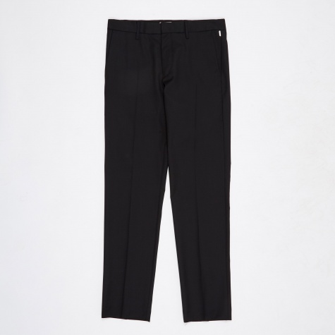 Thomas Technical Wool Trouser - Black