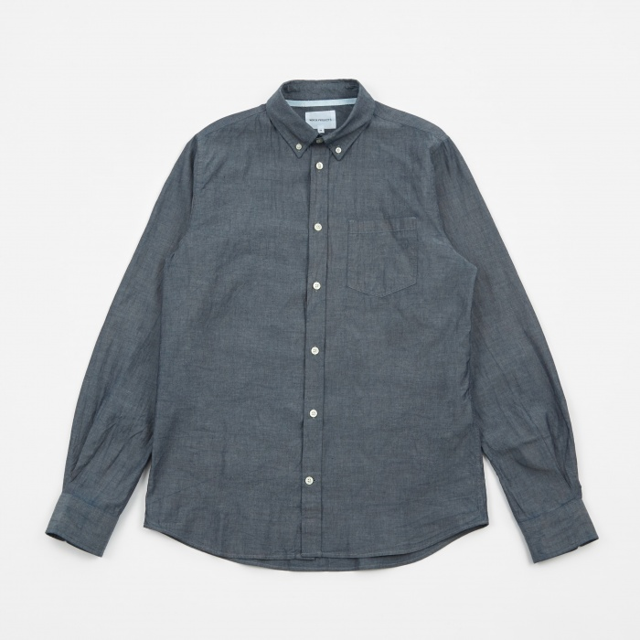 Norse Projects Anton Chambray Shirt - Light Indigo (Image 1)