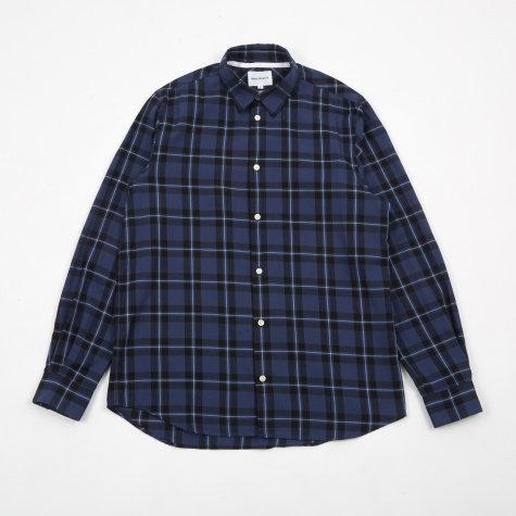 Hans Classic Check Shirt - Dark Navy