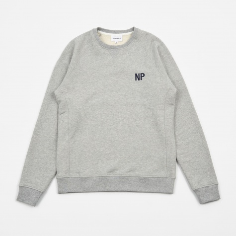 Ketel Crew Embroidery Logo Sweatshirt - Light Gre