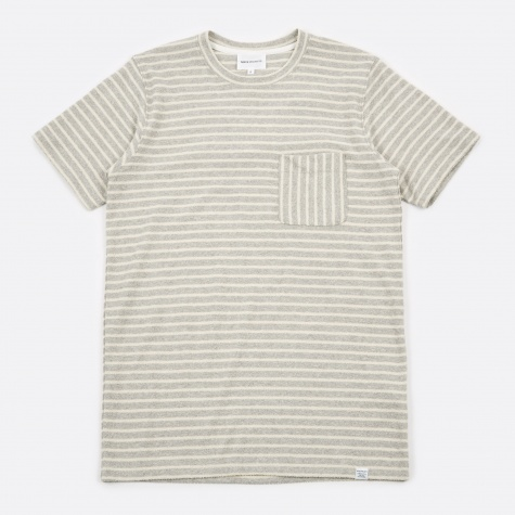 Niels Pocket T-Shirt - Light Grey Melange