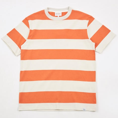 Johannes Wide Stripe T-Shirt - Burned Red