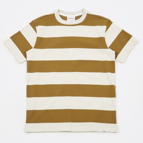 Johannes Wide Stripe T-Shirt - Warm Brass