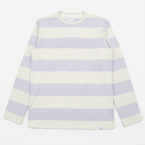 Johannes Wide Stripe L/S T-Shirt - Heather