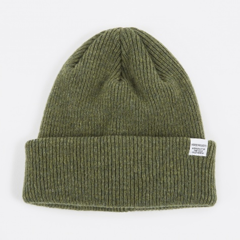 Norse Beanie Hat - Dried Olive
