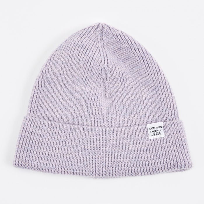 Norse Projects Norse Rib Beanie Hat - Heather (Image 1)