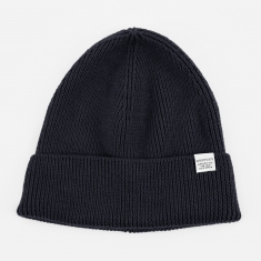 Norse Projects Norse Rib Beanie Hat - Dark Navy