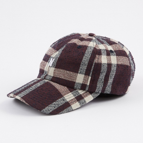 Heavy Check Charter Hat - Burned Red