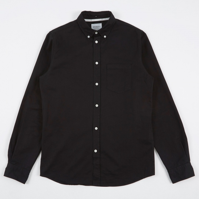 Norse Projects Anton Denim Shirt - Black (Image 1)