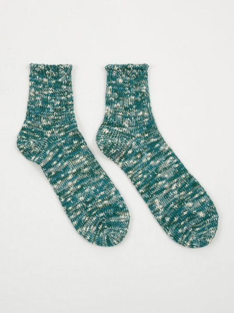 Slub Quarter Sock - Green