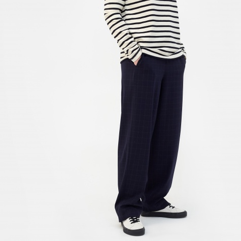 Anea Grid Trouser - Dark Navy