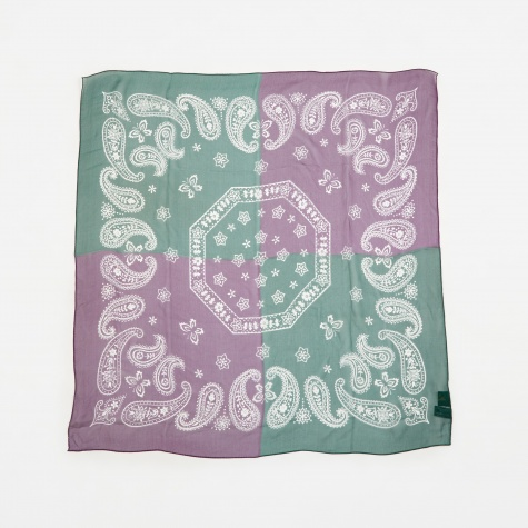 2 Tone Bandana - Purple/Green