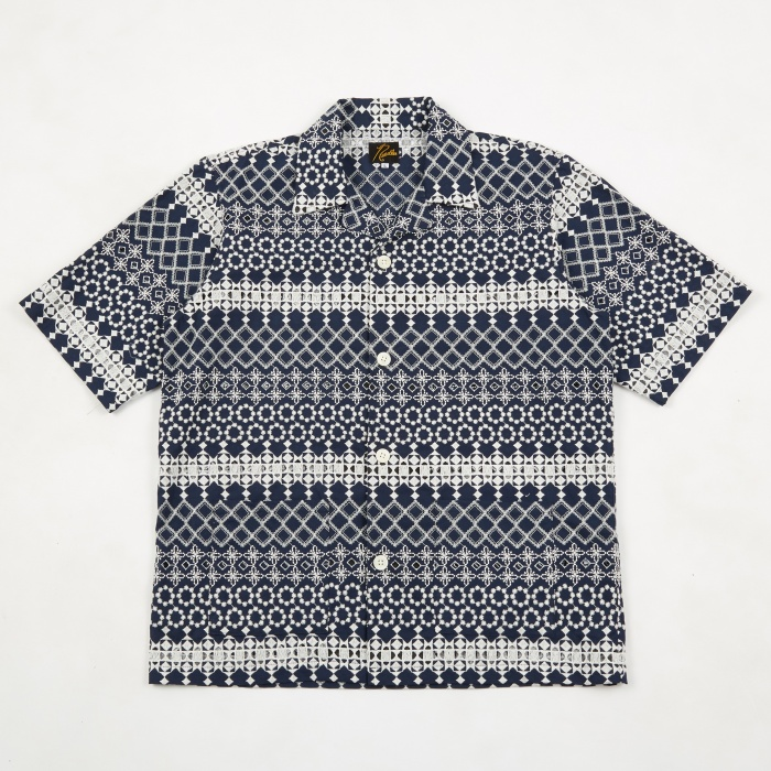 Needles Cabana Shirt - Navy (Image 1)