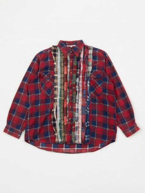 Rebuild Ribbon Flannel Shirt - Assorted