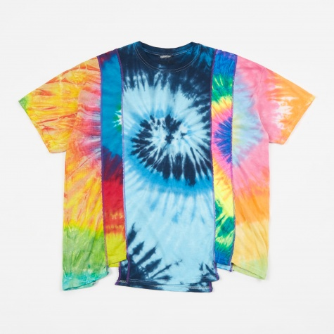 Rebuild 5 Cuts Tie-Dye Spiral T-Shirt - Assorted