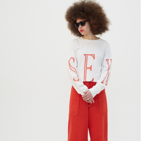 Sex L/S Top - White