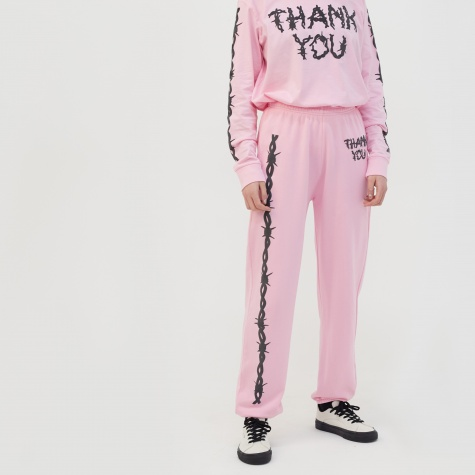 Thank You Track Pant - Pink
