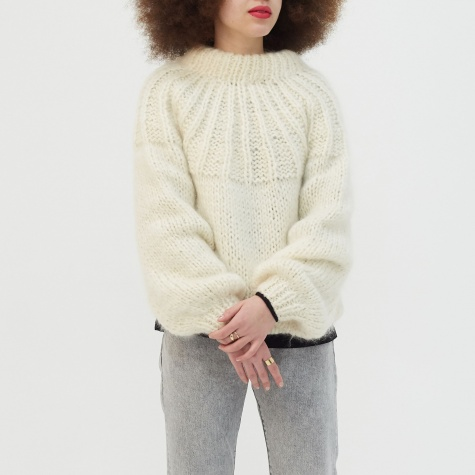Julliard Mohair Knit - Vanilla Ice