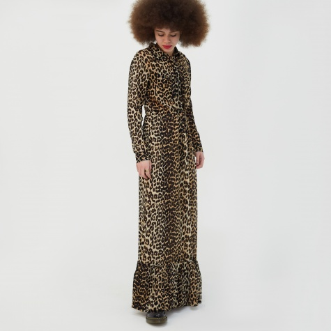 Fairfax Georgette Dress - Leopard