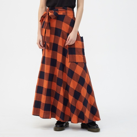 Vanda Skirt - Red Check