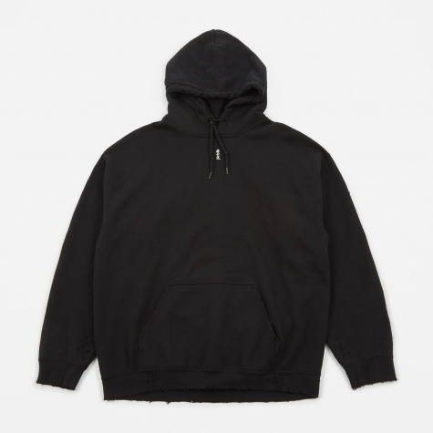 x Sasquatchfabrix. Damage Sweat Hoodie - Black