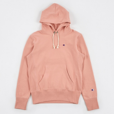 Reverse Weave Hooded Sweatshirt - Rose