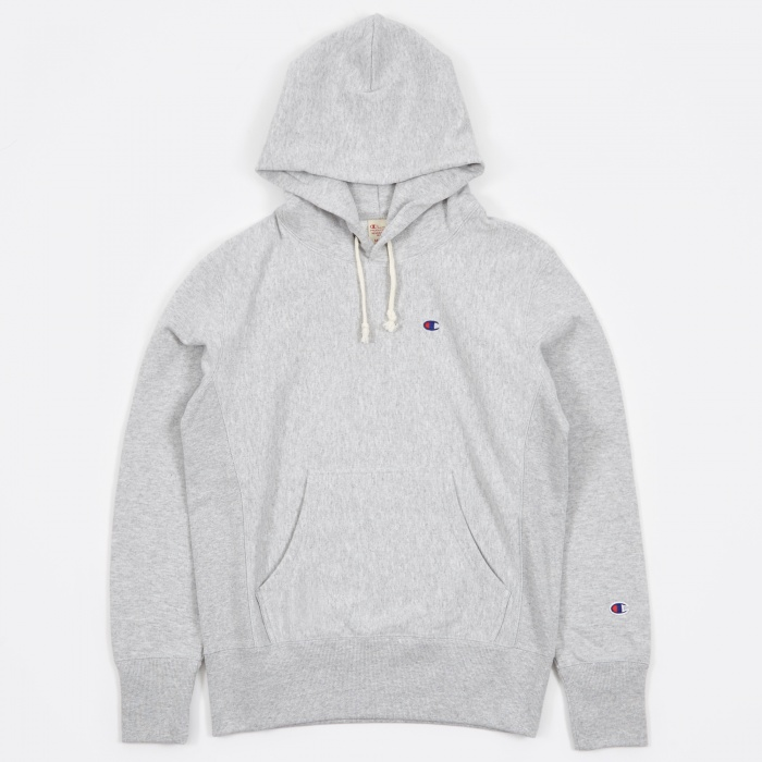 Champion Reverse Weave Hooded Sweatshirt - Grey (Image 1)