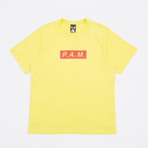Perks And Mini P.A.M Logo Short Sleeve T-Shirt - Primary Yellow