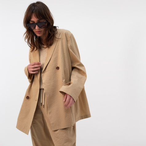 Seersucker Double Jacket - Sand