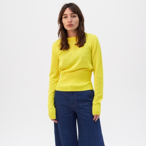 Fine Sweater - Blazing Yellow