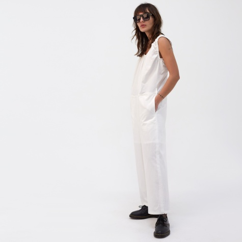 Shirring Jumpsuit - White