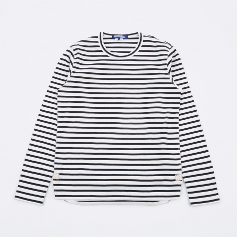 Striped L/S T-Shirt - White/Navy