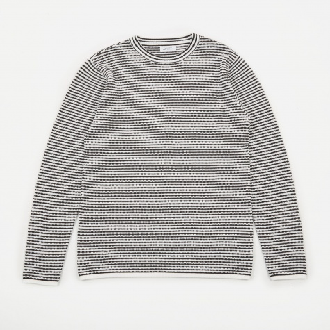 Alek Stripe Long Sleeve T-Shirt - Black