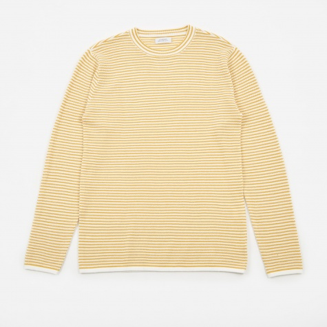 Alek Stripe Long Sleeve T-Shirt - Dusty Amber