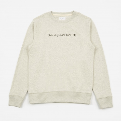 Bowery Crewneck Sweatshirt - Natural Heather