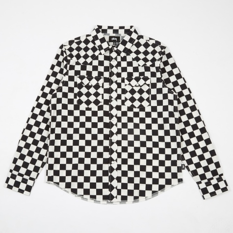 Checker Western Shirt - Black