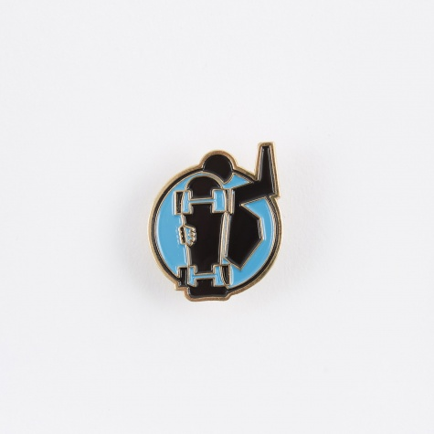 Skate Man Pin - Blue