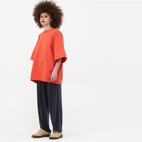 Earl Oversized S/S Sweatshirt - Red Orange