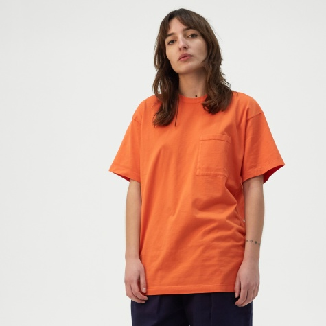 Unisex Pocket T-Shirt - Red Orange