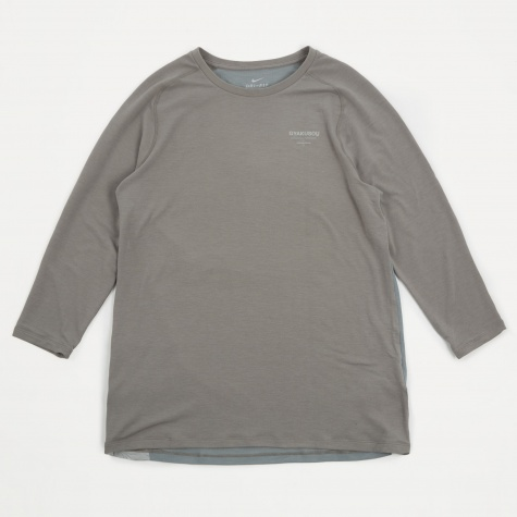 Long Sleeve Top - Flat Pewter