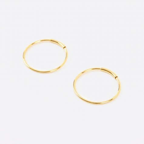 M Basic Hoop - 14K Gold Plated