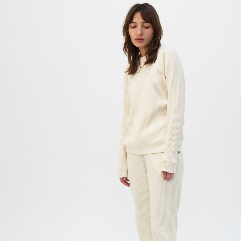 Basic Rib Sweatshirt - Off White